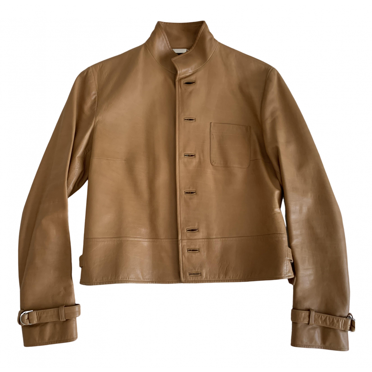 Ralph Lauren Collection \N Camel Leather Leather jacket for Women 38 FR