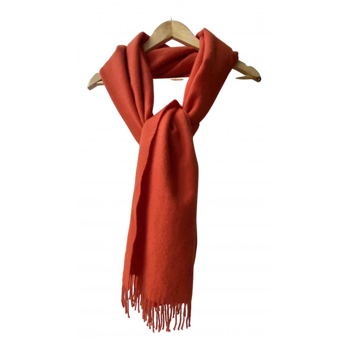 Cos \N Schal in  Orange Wolle