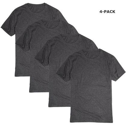 T-shirt à manches courtes Mélange de charbon de bois - LIVINGbasics ™ - 4 Paquets, S