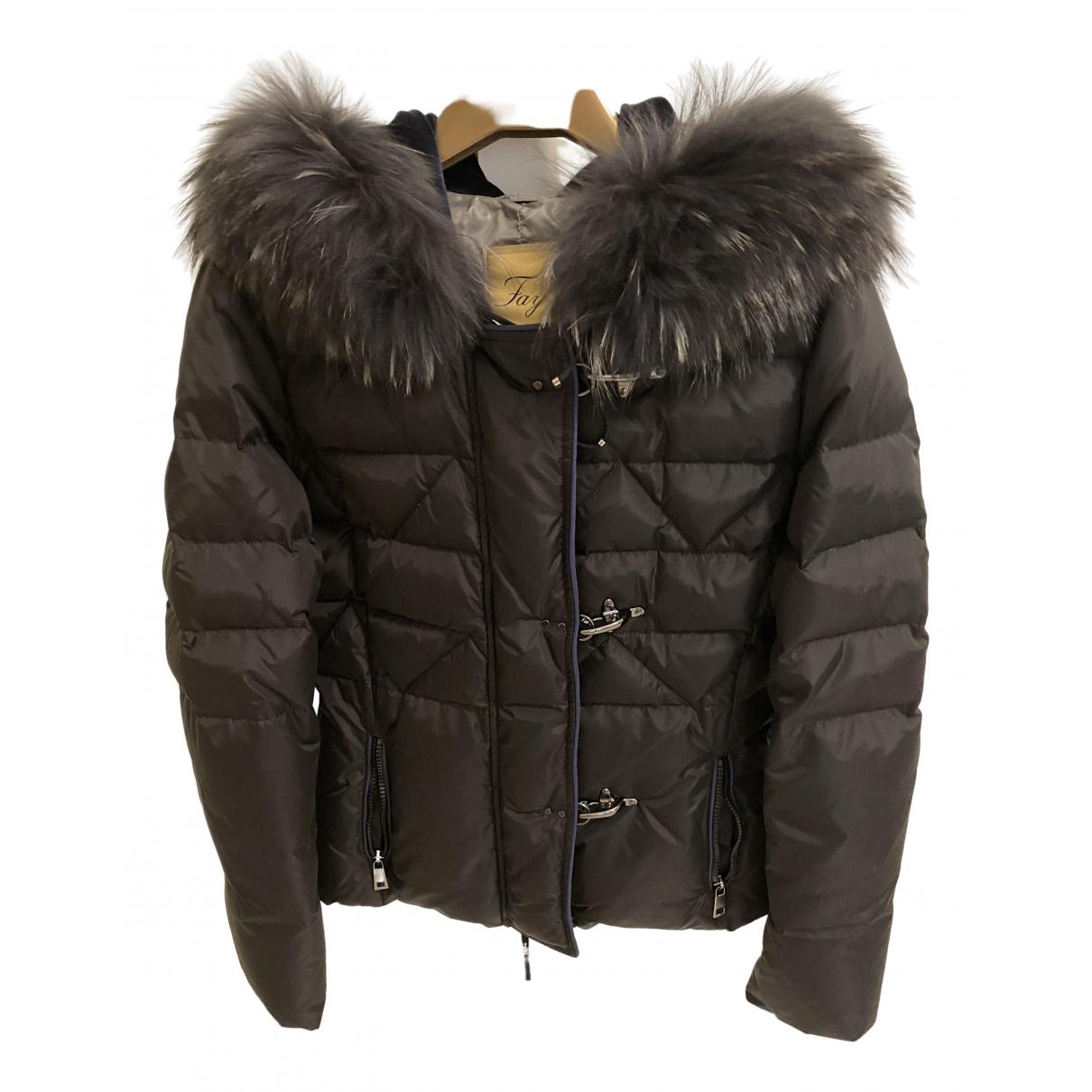 Fay \N Black Fox coat for Women M International