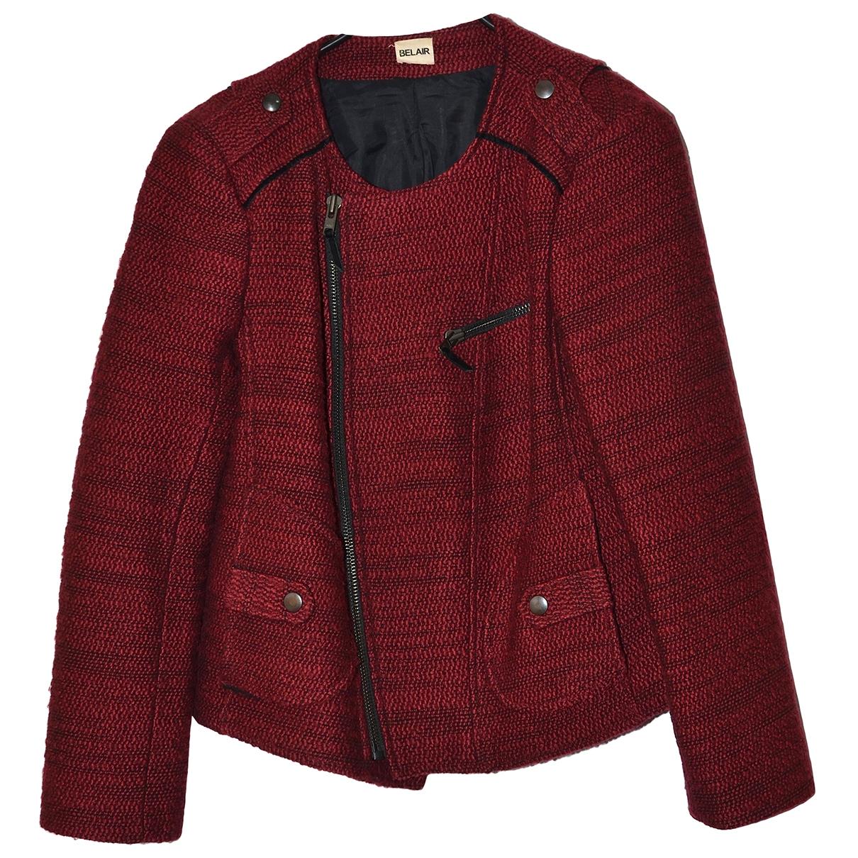 Bel Air - Veste   pour femme en tweed - bordeaux
