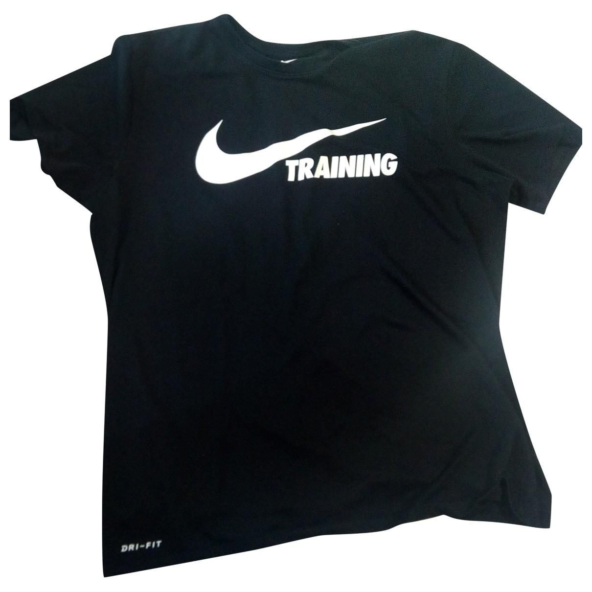 Nike N Black Cotton T-shirts for Men L International