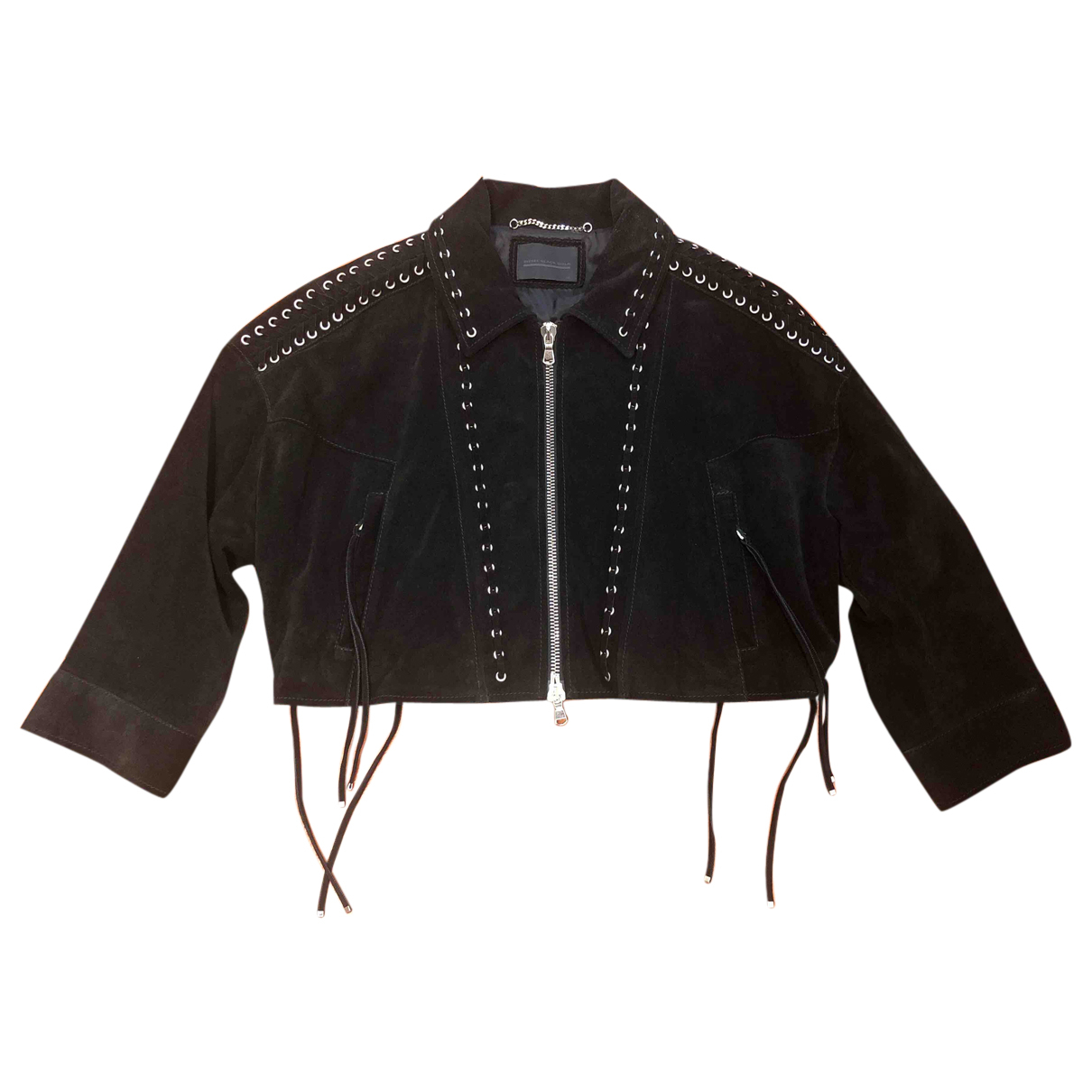 Diesel Black Gold - Veste   pour femme en cuir - noir