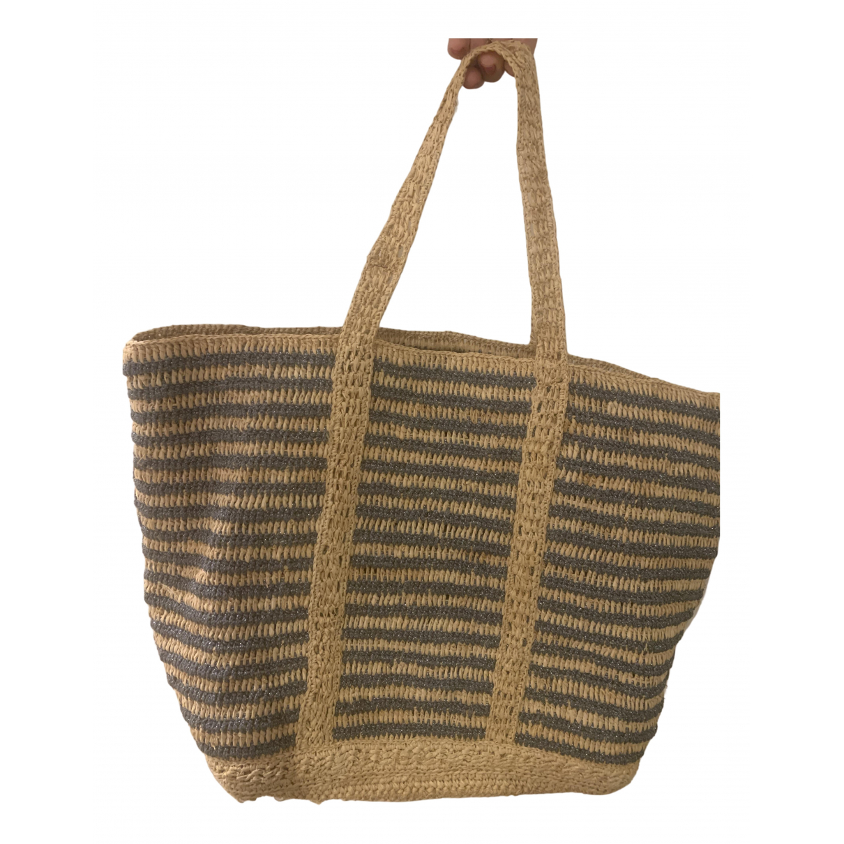 Vanessa Bruno Cabas Metallic Wicker Travel bag for Women \N