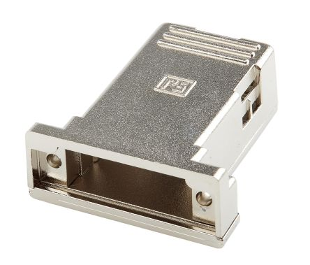 RS PRO PET D-sub Connector Backshell, 15 Way, Strain Relief