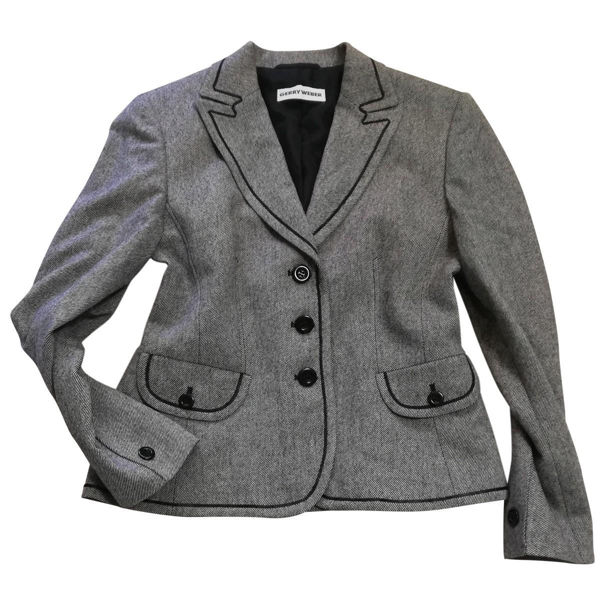Weber - Veste   pour femme en laine - gris