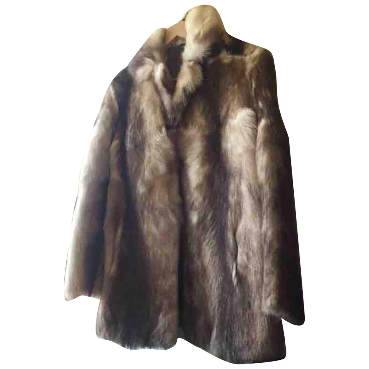 Non Signé / Unsigned \N Camel Mink coat for Women 38 FR