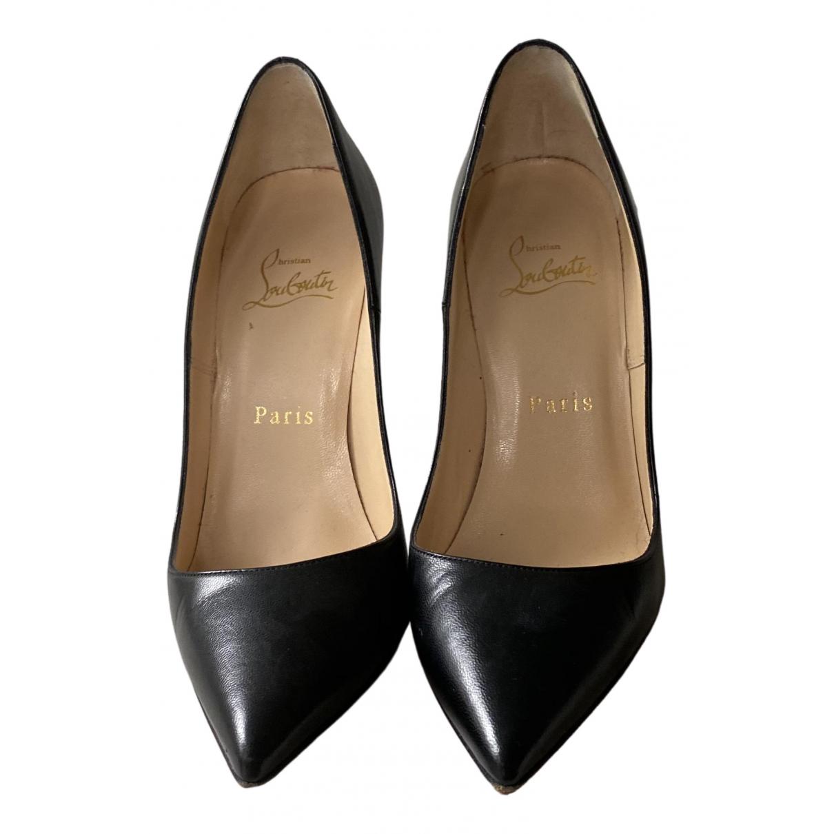 Christian Louboutin So Kate  Black Leather Heels for Women 36 EU