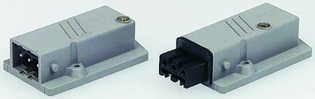 Hirschmann , ST Panel Mount Heavy Duty Power Connector Socket, Rated At 10.0A, 250.0 V, 400.0 V