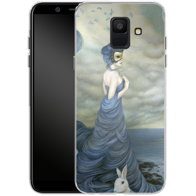Samsung Galaxy A6 Silikon Handyhuelle - Where Time Beckons the Wicked von Dan May