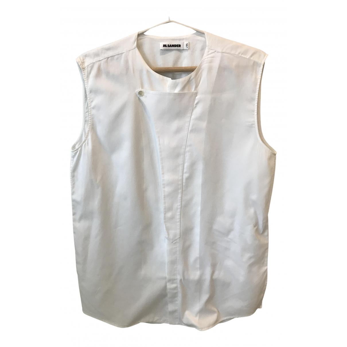 Jil Sander - Top   pour femme en coton - blanc