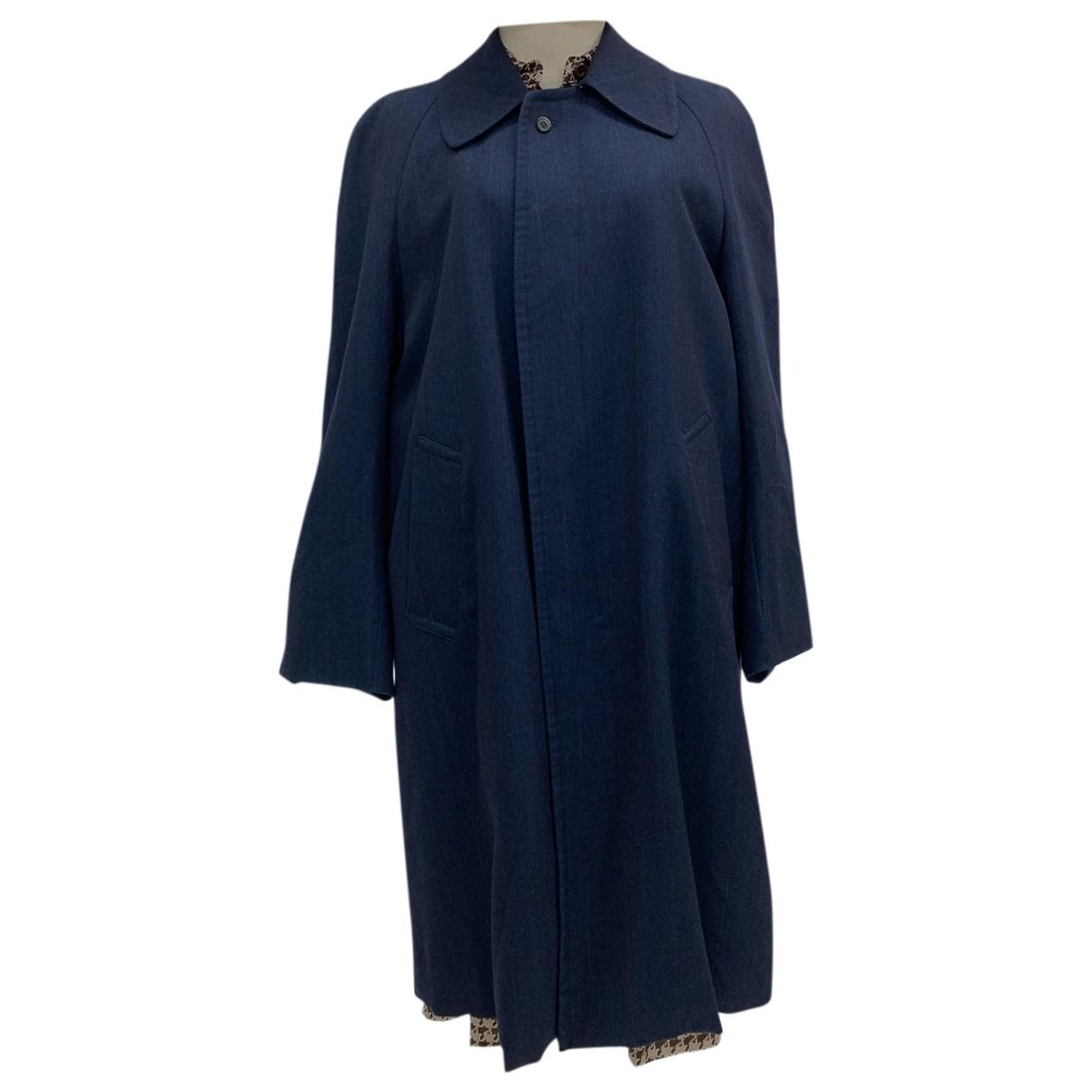 Lanvin - Trench   pour femme en laine - bleu