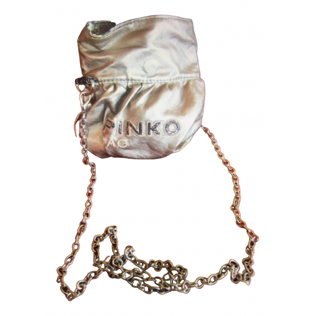 Pinko \N Gold Leather Clutch bag for Women \N