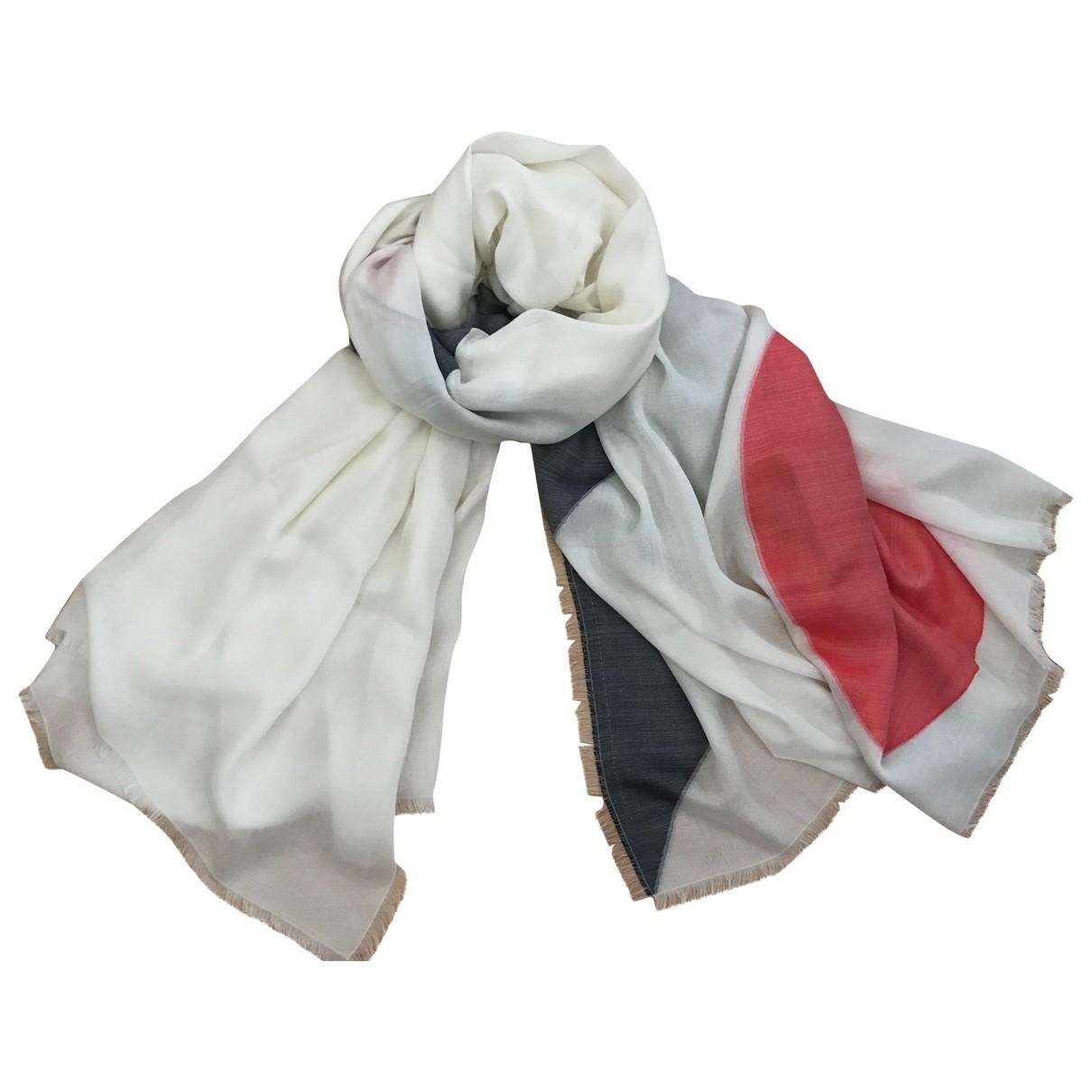 Chanel \N Ecru Silk scarf for Women \N
