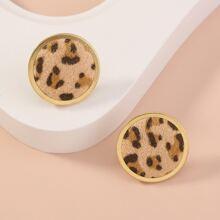 Ohrstecker mit Leopard Design
