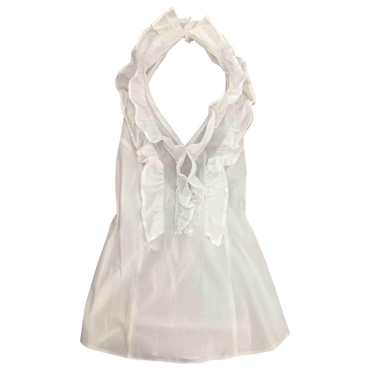 Non Signé / Unsigned \N White Cotton  top for Women M International