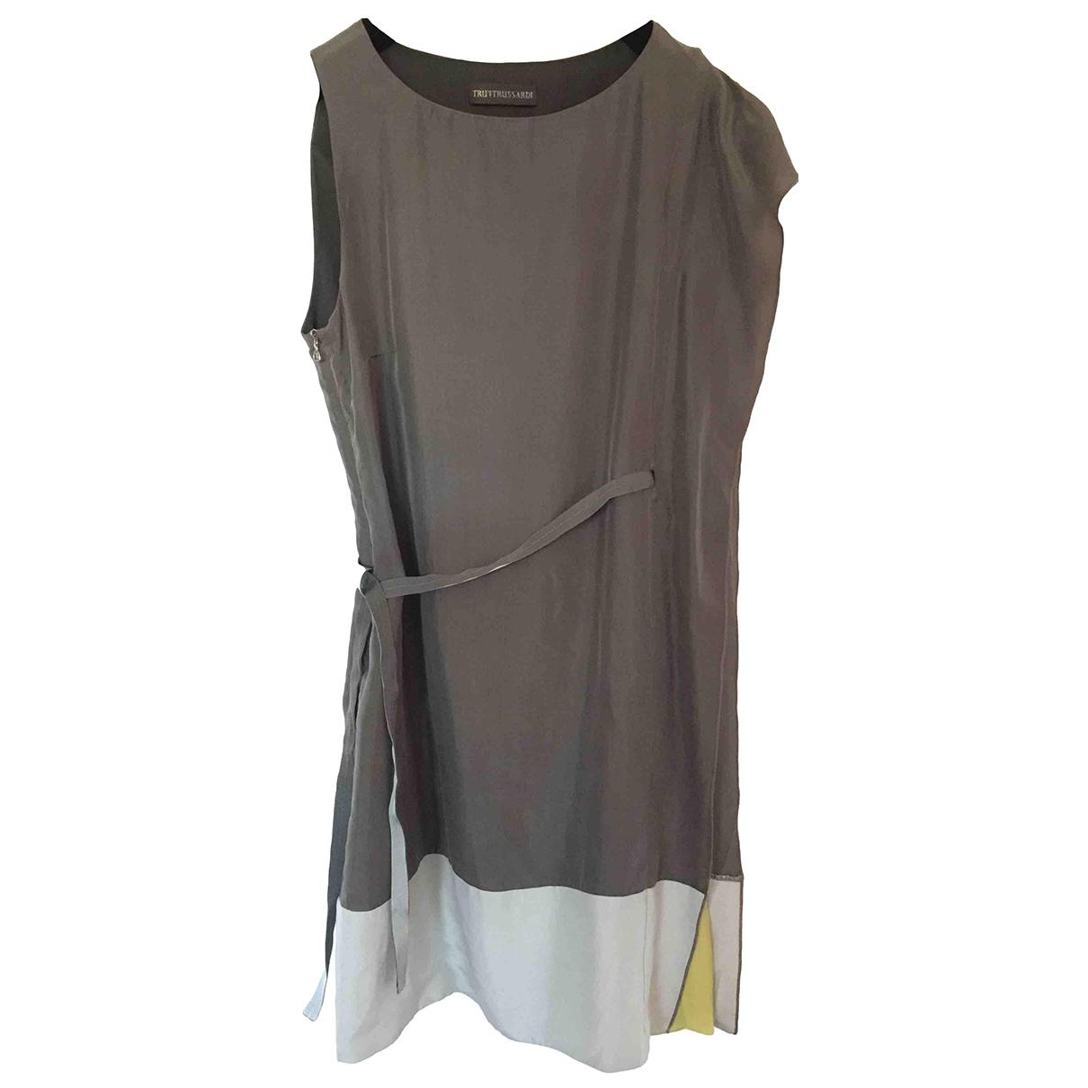 Trussardi \N Kleid in  Grau Seide
