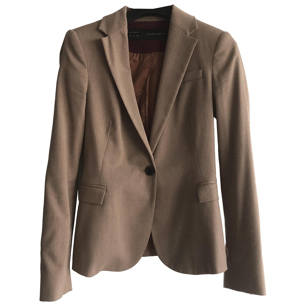 Zara \N Jacke in  Beige Polyester