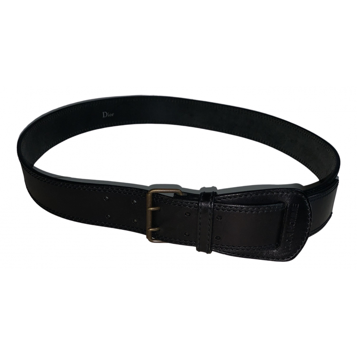 Dior Homme \N Black Leather belt for Men 100 cm