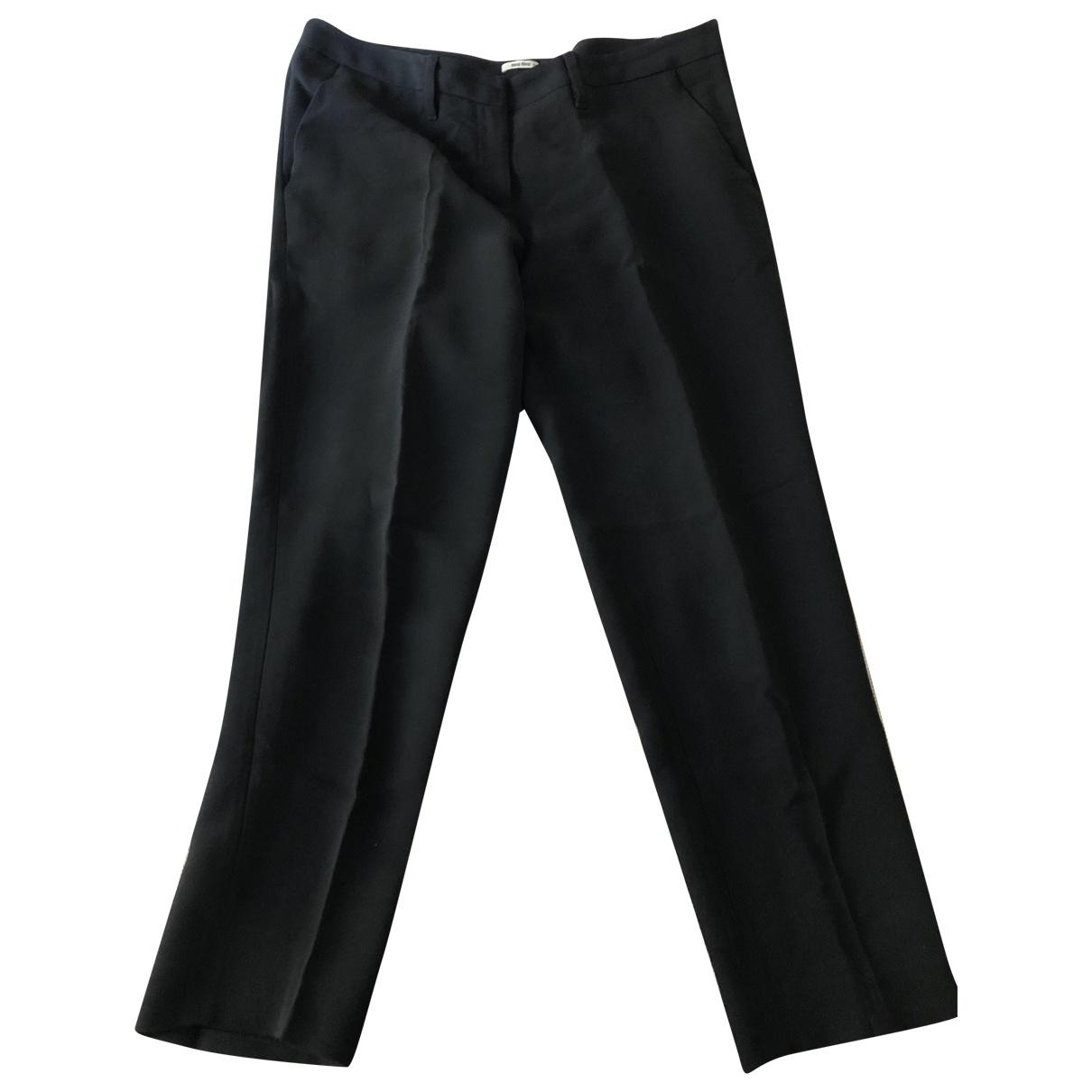 Miu Miu \N Navy Trousers for Women 44 IT