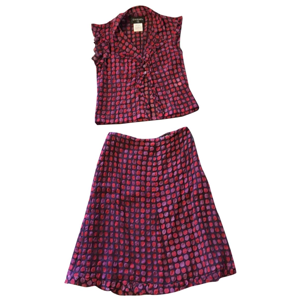 Falda midi de Seda Chanel