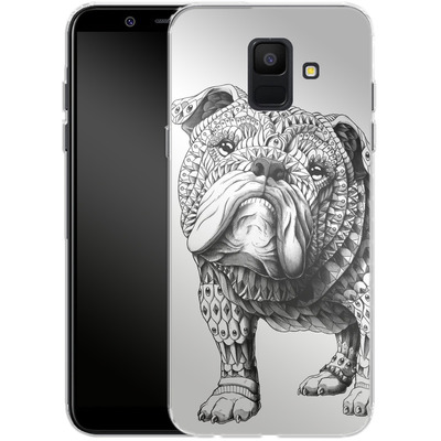 Samsung Galaxy A6 Silikon Handyhuelle - English Bulldog von BIOWORKZ