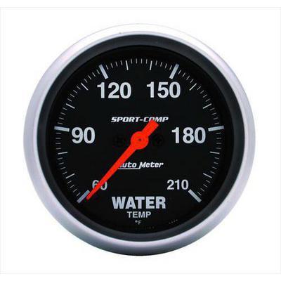 Auto Meter Sport-Comp Electric Low Temperature Water Gauge - 3569