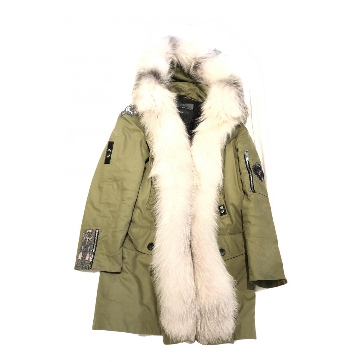 Ermanno Scervino - Manteau   pour femme en coton - vert