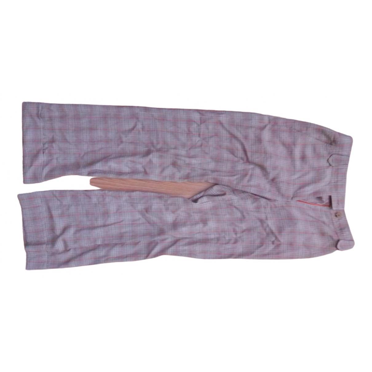 Carolina Herrera \N Grey Wool Trousers for Women 6 US