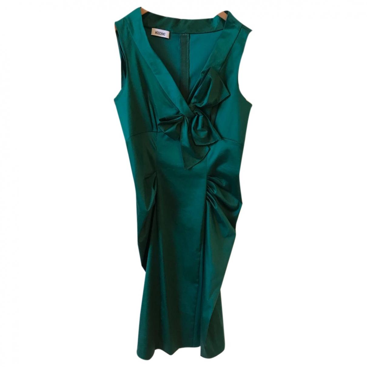 Moschino - Robe   pour femme en coton - vert