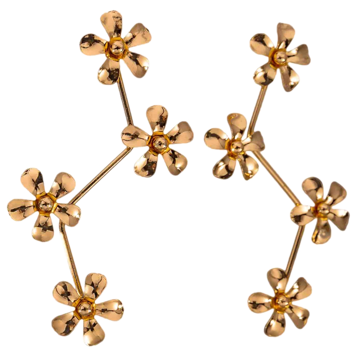 Non Signe / Unsigned Motifs Floraux Kette in  Gold Vergoldet