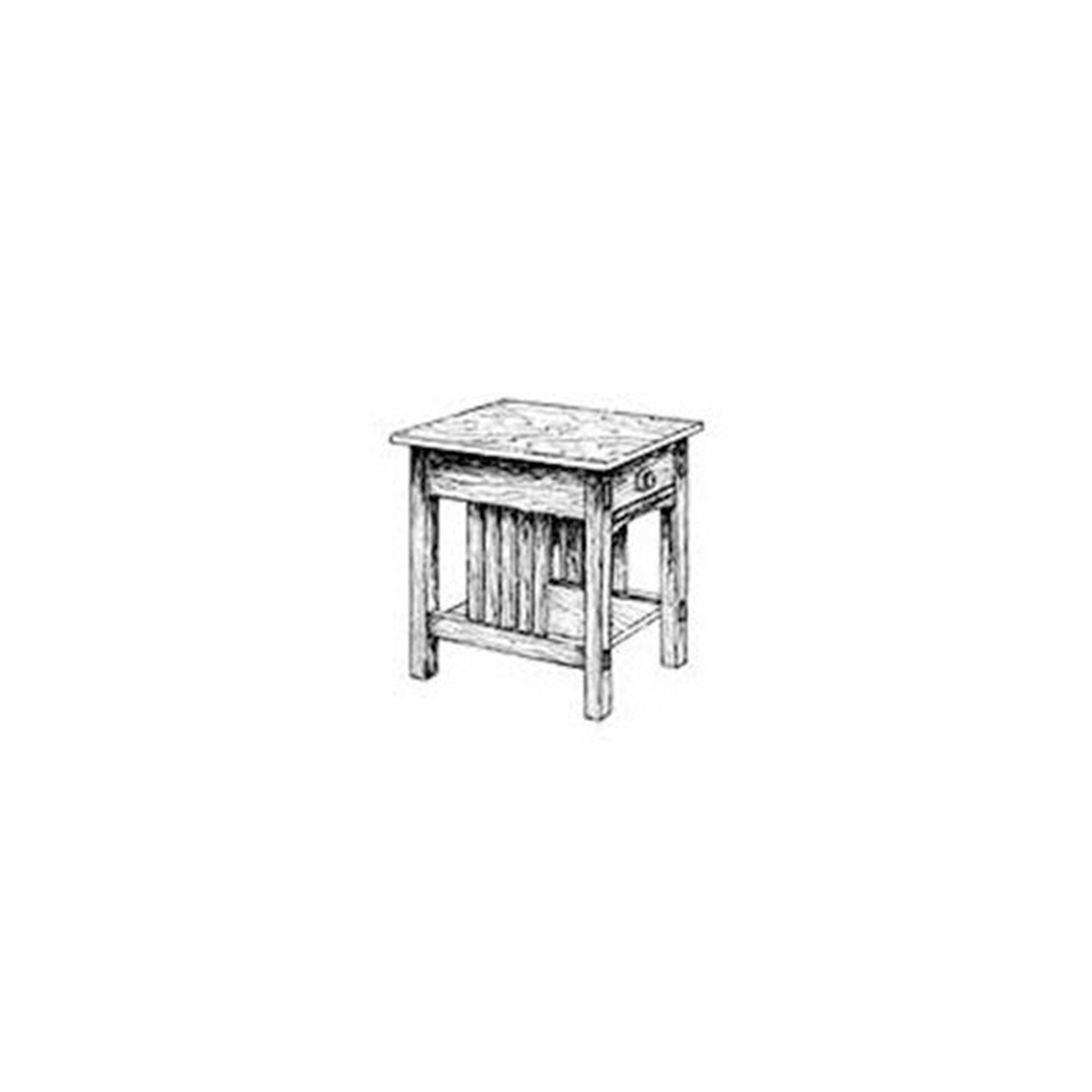Woodworking Project Paper Plan to Build Mission End Table
