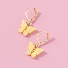 Butterfly Design Hoop Earrings