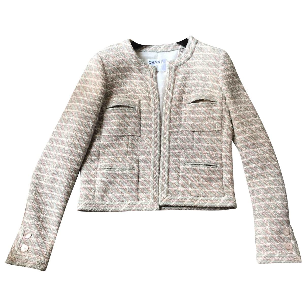 Chanel \N Beige Cotton jacket for Women 38 FR