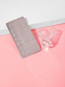 ROMWE FUNSTUFF Nail Art Stamping Scraper Plate Tool Set 3pack