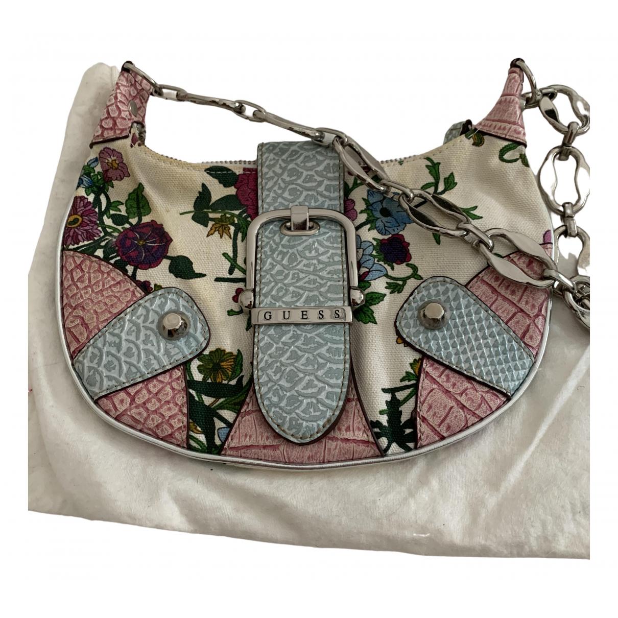 Guess \N Handtasche in  Weiss Baumwolle