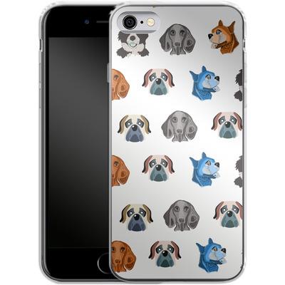 Apple iPhone 6s Silikon Handyhuelle - Dog Love von Mukta Lata Barua