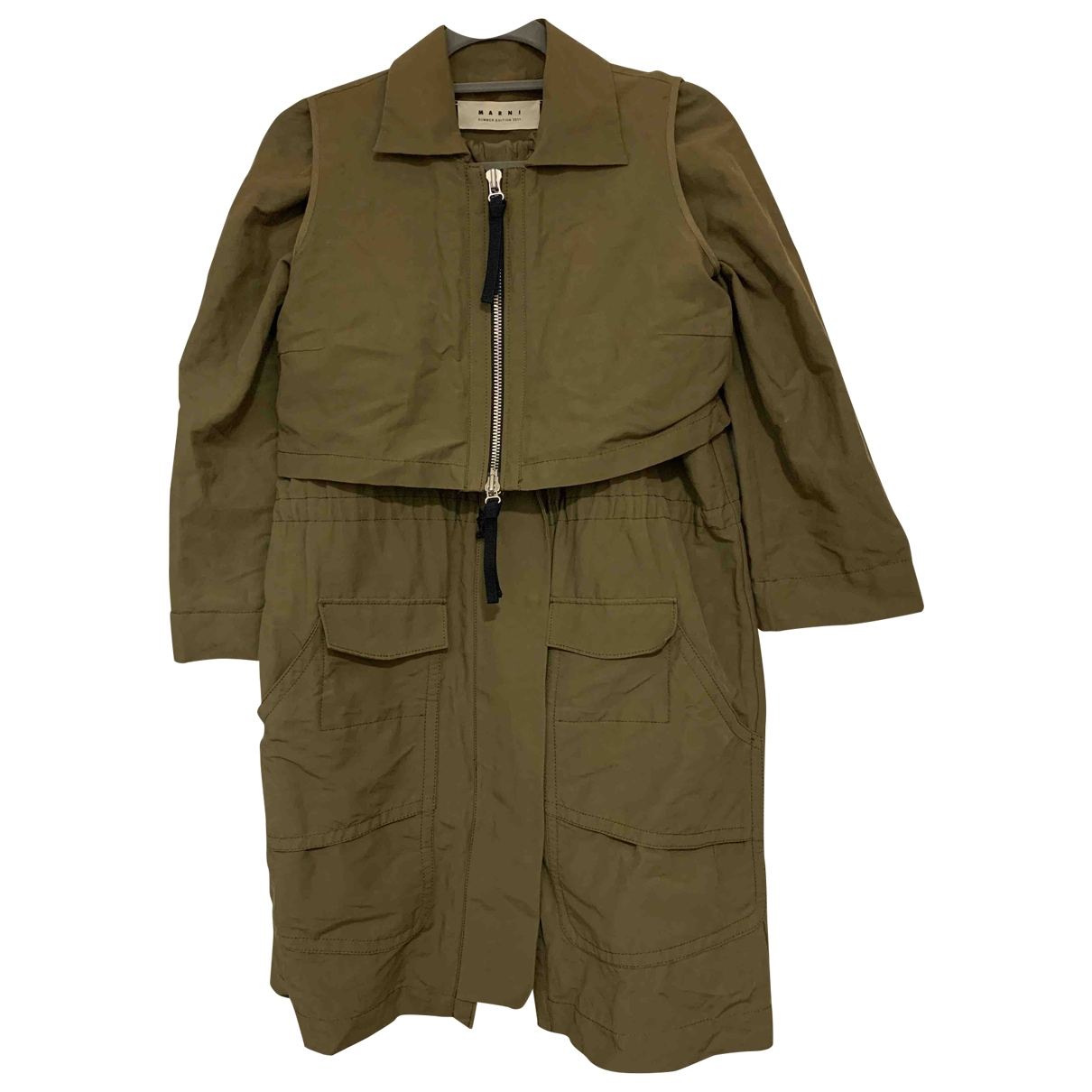 Marni \N Green Cotton Trench coat for Women 38 FR