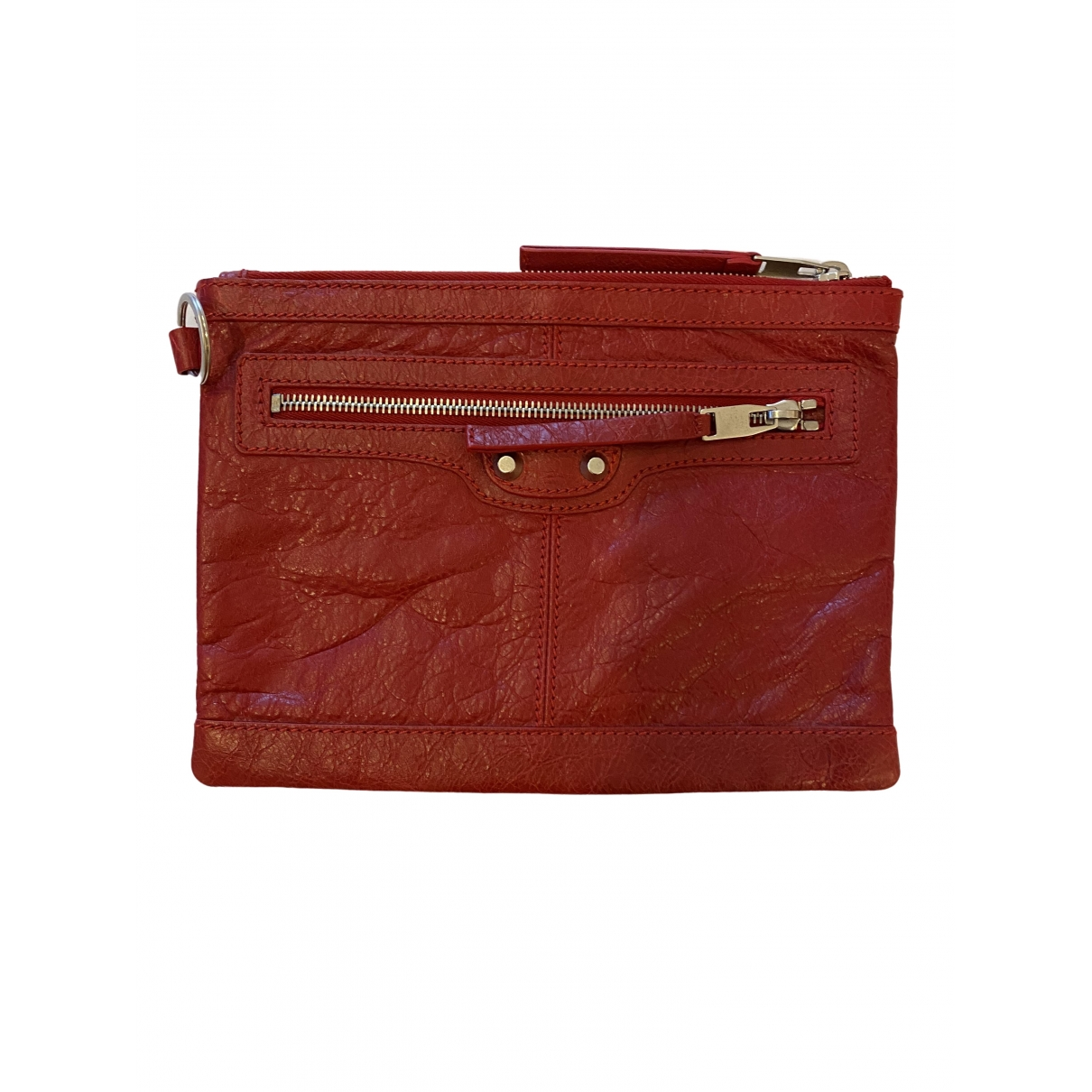 Balenciaga \N Red Leather Clutch bag for Women \N