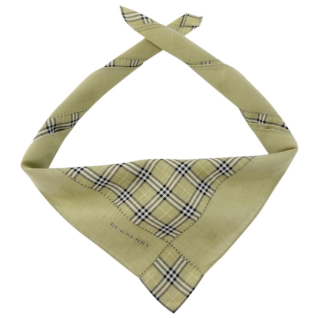 Burberry \N Beige Cotton scarf & pocket squares for Men \N