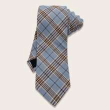 Men Plaid Pattern Tie