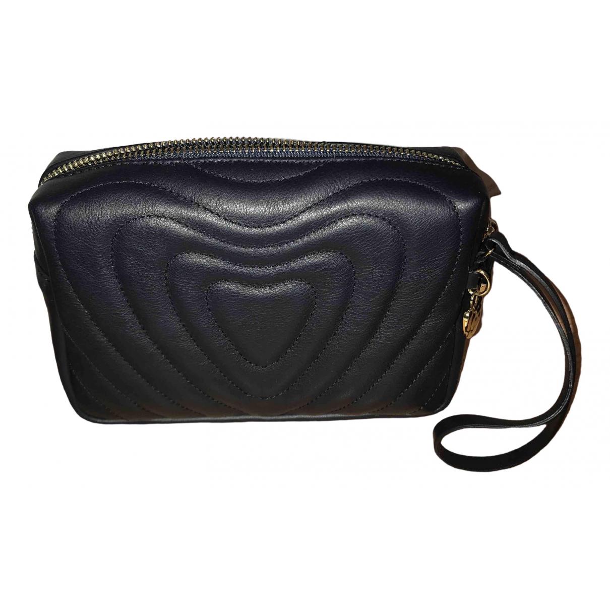 Escada - Pochette Heart bag pour femme en cuir - bleu