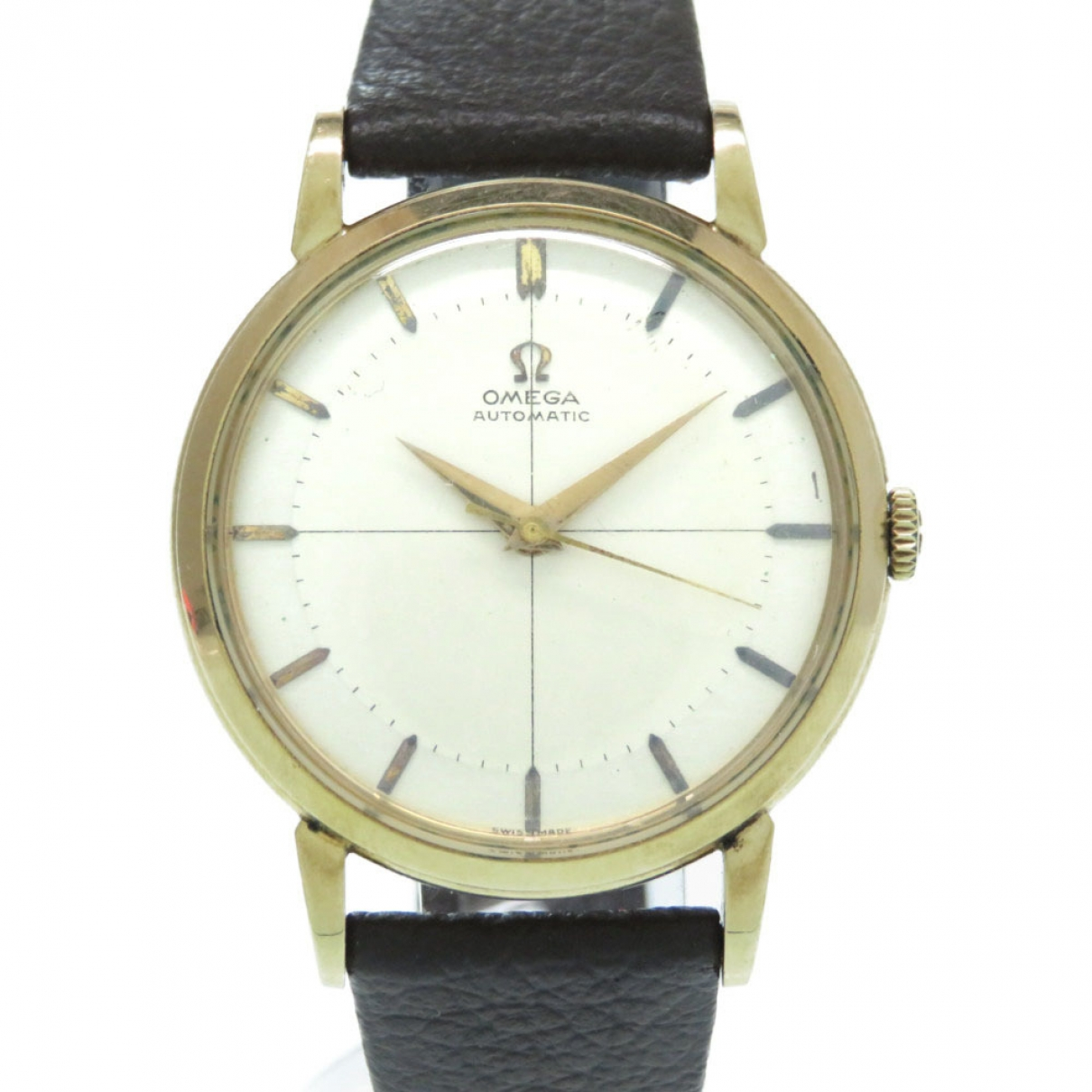 Omega \N Brown Gold plated watch for Men \N