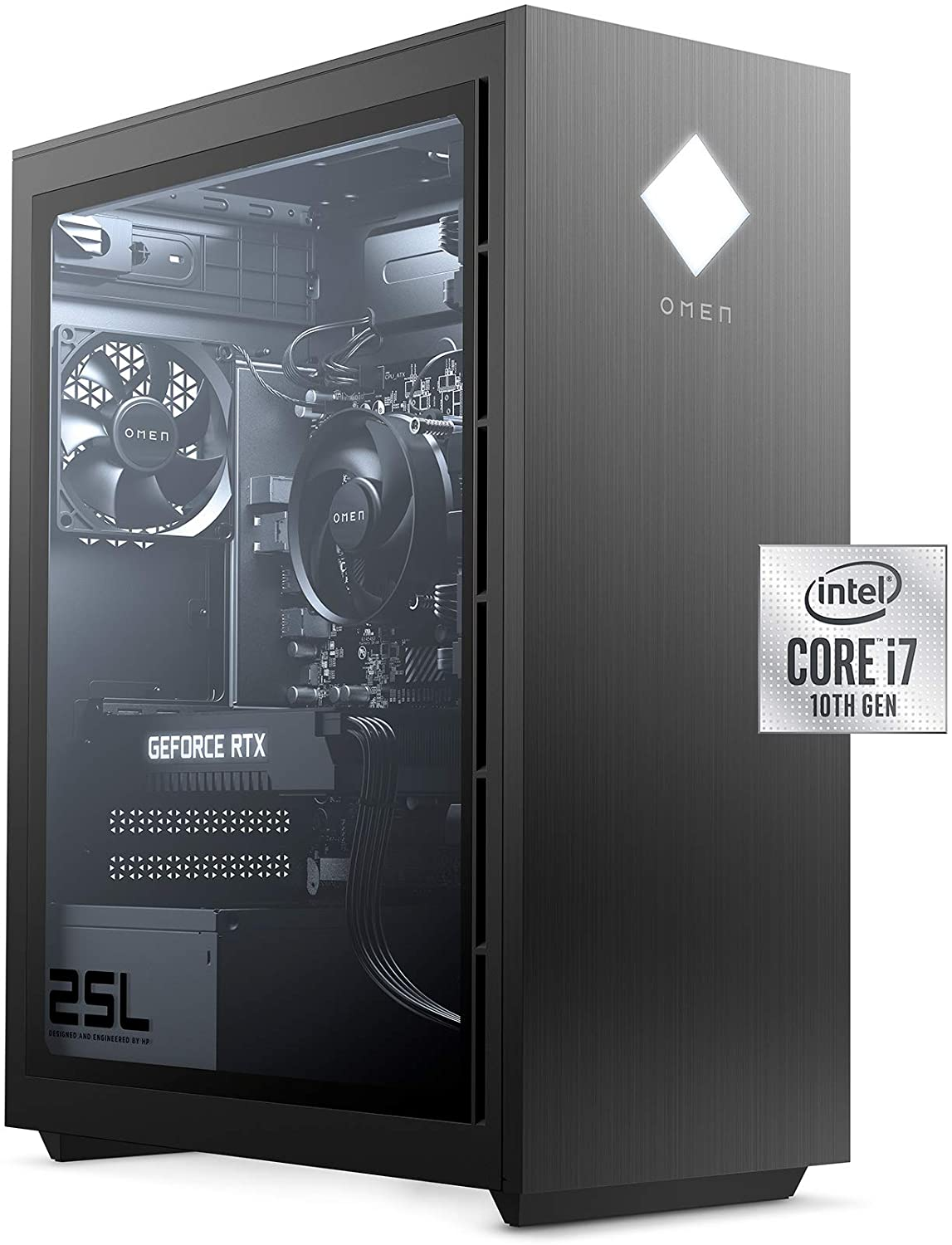 (Open Box) Omen by HP 25L GT12-0040 Gaming Desktop i7 16GB 512GB SSD GTX 1660Ti 6GB