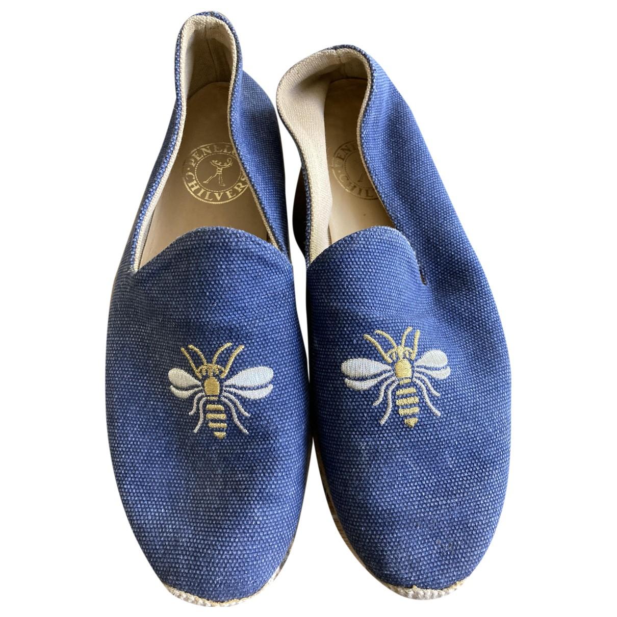 Penelope Chilvers \N Espadrilles in  Blau Leinen