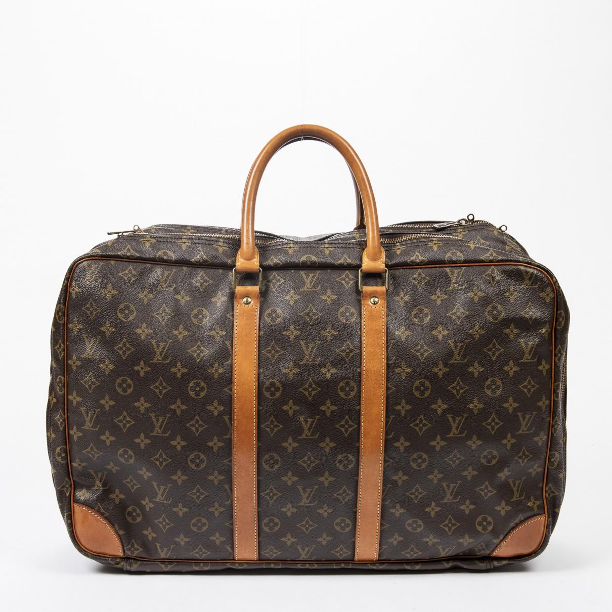 Louis Vuitton Sirius  Reisetasche in  Braun Baumwolle