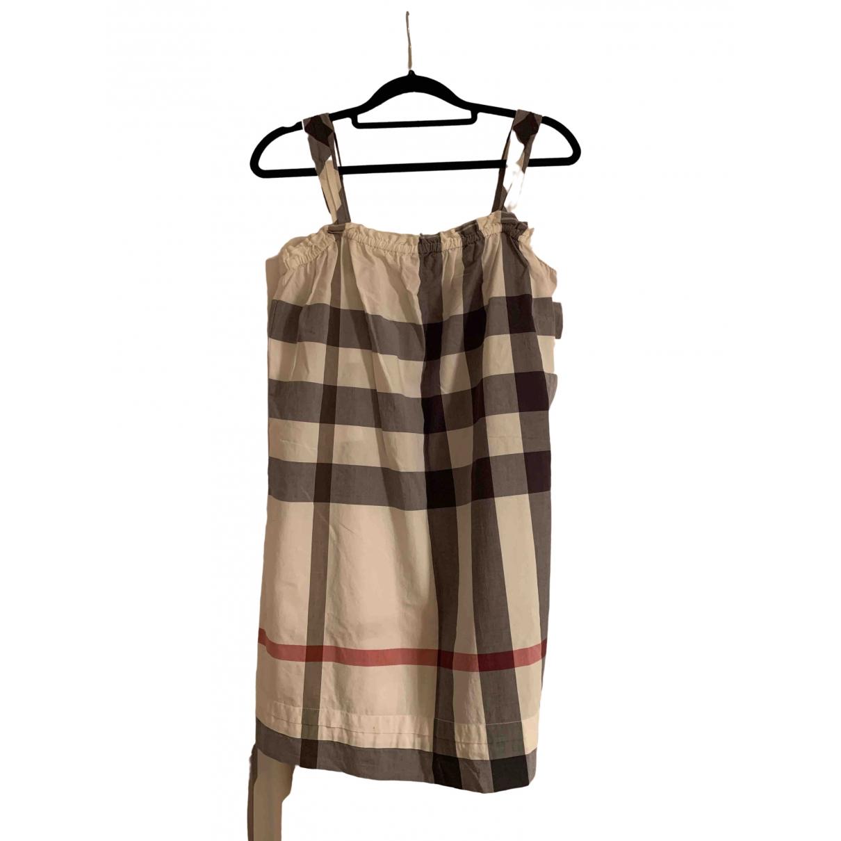 Burberry \N Kleid in  Bunt Baumwolle