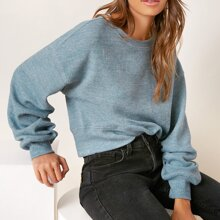 Einfarbig Laessig Sweatshirts