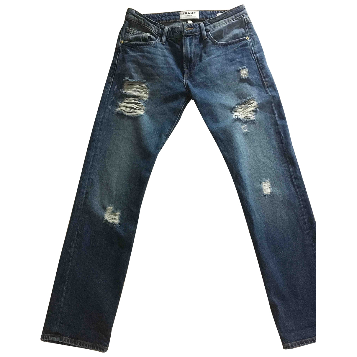 Frame Denim \N Blue Denim - Jeans Jeans for Women 24 US