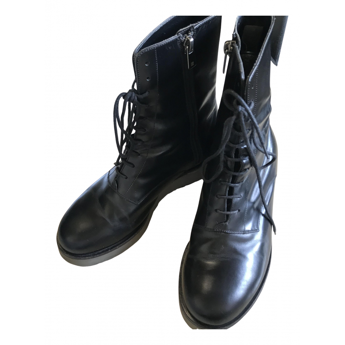 Fratelli Rossetti N Black Leather Ankle boots for Women 36 EU